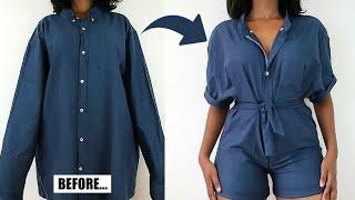 DIY Romper/Jumpsuit | Mens Shirt Refashion
