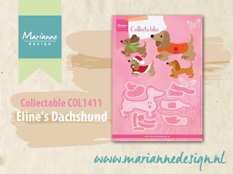 Collectable COL1411 Dachshund doggy | Eline's Animals by Marianne Design | Cardmaking Die Cutting