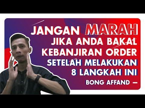 8 LANGKAH BANJIR ORDER DI MARKETPLACE - BISNIS ONLINE   BONG AFFAND