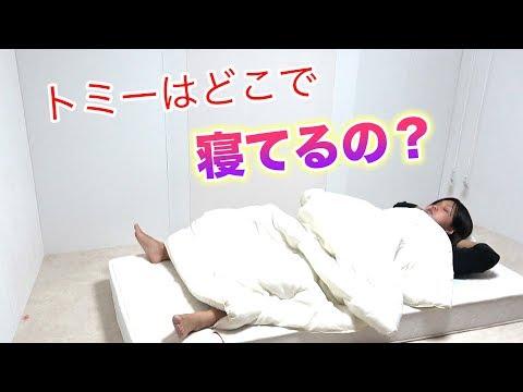 【シェアハウス】トミーがいつも寝ている場所が衝撃的!