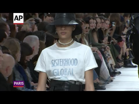Designer Maria Grazia Chiuri once again celebrated feminism and sisterhood in her collection for Christian Dior at Paris Fashion Week that delved into the independent styles of the 1950's Teddy Girls. (Feb. 26)