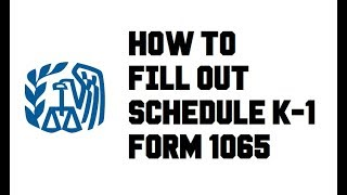 How to fill out Schedule K-1 (Form 1065) - Example Completed Explained - General Partner LLC