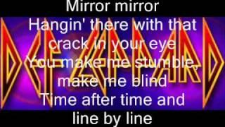 Mirror Mirror -Def Leppard- Lyrics video
