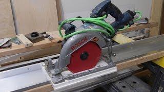 How To Make Aluminum Guide Rail For Your Circular Saw. Направляющая шина.
