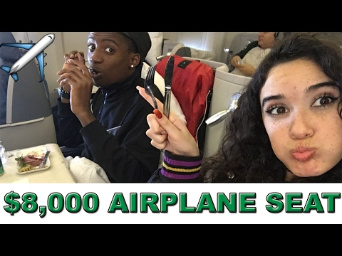 THE $8,000 AIRPLANE SEAT!! (Delta Airlines Business Class)