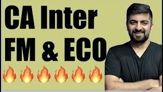 CA Inter FM and ECO | Information, News and Announcement For CA Intermediate New Course FM and ECO