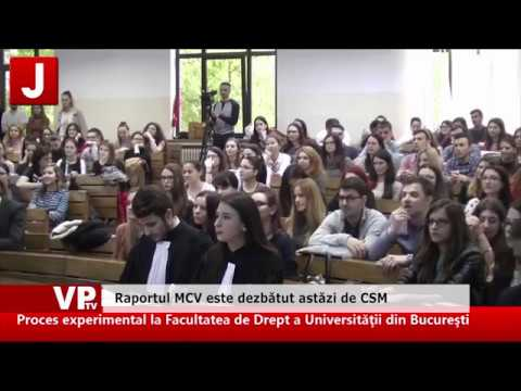 Raportul MCV este dezbătut astăzi de CSM