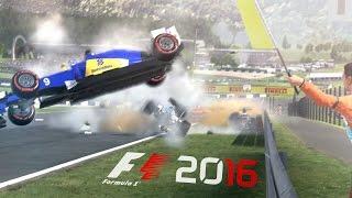 F1 2016 - CRASHES & FAILS #2