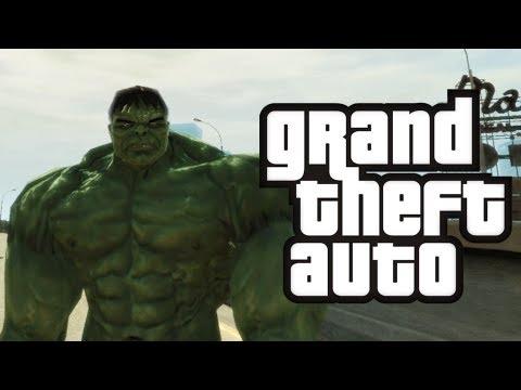 GTA 4: Халк в GTA! - (Халк Мод Смешные Моменты)