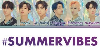 [Color Coded Lyrics] GOT7   #SUMMERVIBES [KanjiRomEng]
