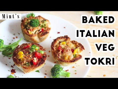 Baked Italian Veg Tokri Recipe In Hindi – Breakfast Recipes – Party Snacks Recipes – EP-177