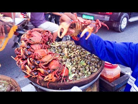 Asian Street Food - Fast Food Street in Asia, Cambodian food #08