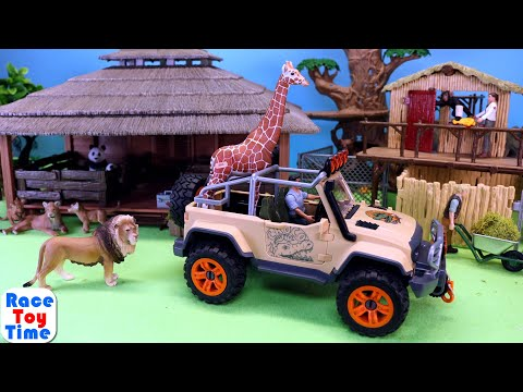 Schleich Wildlife Safari Animal Rescue Truck plus Fun Animals Toys For Kids