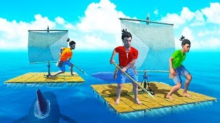 SURVIVING WITH JELLY AND KWEBBELKOP! - Raft Multiplayer