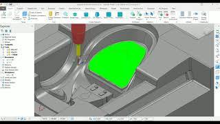 Autodesk PowerMill - Rotary Finishing Toolpath - Rajesh Kanna
