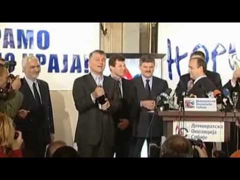 Objava pobede Demokratske opozicije Srbije