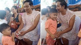 Bercerai 3 Tahun Lalu, Seorang Pria Kenakan Gaun demi Anaknya Senang untuk Peringati Hari Ibu
