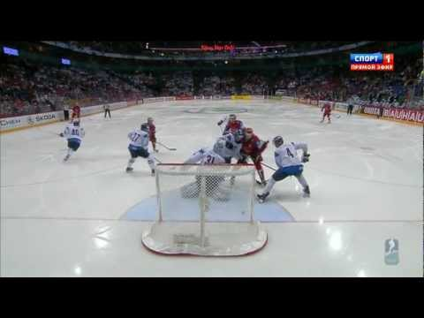 1/2-Final RUSSIA - FINLAND 6:2 █ Goals IIHF WC 2012 ЧМ голы Россия Финляндия видео