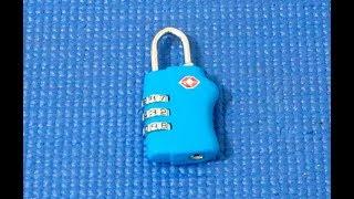 (Picking 115) TSA combination padlock TSA007 (picked & decoded)