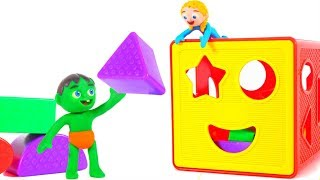 KIDS LEARNING SHAPES ❤ PLAY DOH CARTOONS FOR KIDS