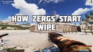 Rust : HOW ZERGS START WIPE : WIPE ON RUSTAFIED MAIN