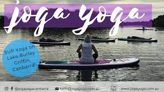 SUP yoga on Lake Burley G - see inside a session