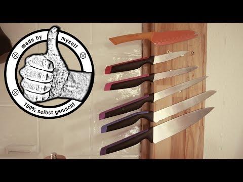DIY Deko Kitchen Hacks für Ordnung in der Küche - Magnet Messerhalter - Kitchen MakeOver