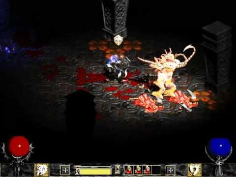 Diablo 2 - Back to Hellfire - warrior gameplay