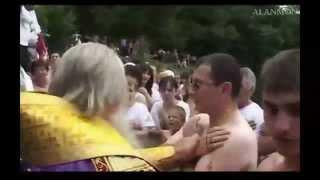 Осетия. Массовое крещение осетин в монастыре