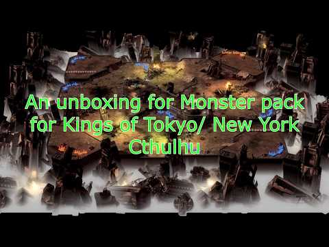 An unboxing for monster pack for kings of tokyo and new york Cthulhu