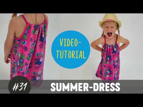 Summer Dress Trägerkleid für Mädchen selber nähen DIY-Näh-Tutorial