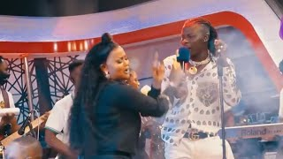 Nana Ama Mcbrown Surprises Stonebwoy On Stage - Watch Performance