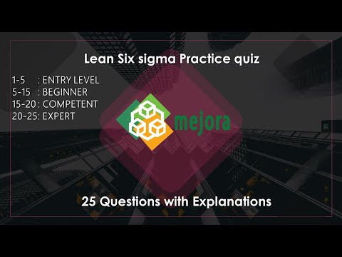 2 . 25 Question & Answer Lean Six sigma practice for exam - YouTube