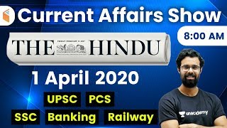 8:00 AM - Daily Current Affairs 2020 by Bhunesh Sir | 1 April 2020 | wifistudy