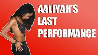 Aaliyah's LAST Performance (More Than A Woman) Reaction