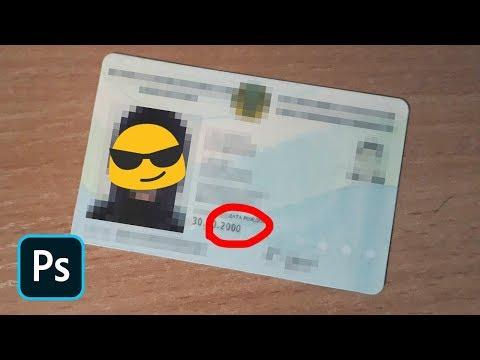 Как изменить дату на документах в фотошопе
