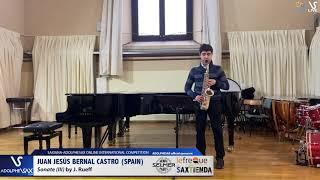 Juan Jesús BERNAL CASTRO plays Sonata by J. Rueff #adolphesax