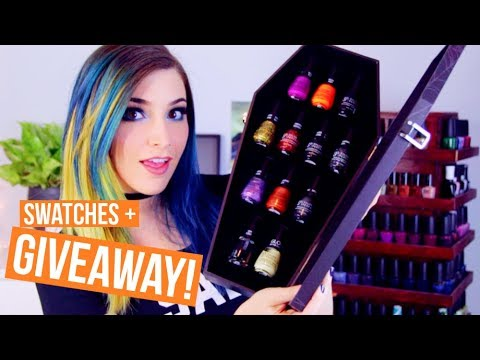 Drugstore Halloween Nail Polish Swatches and Review! Salon Perfect || KELLI MARISSA