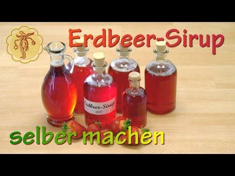 Erdbeer-Sirup selber machen