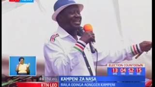 Raila Odinga aongoza kampeini katika maeneo ya Meru