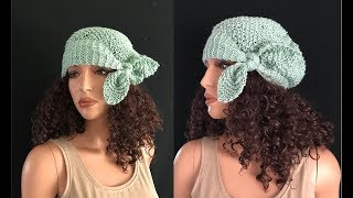 How to Knit a Bow Tie Beanie Hat Pattern #774│by ThePatternFamily