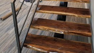 Cutting Black Walnut Up Into Slabs For Free Floating Stairs, Part 1