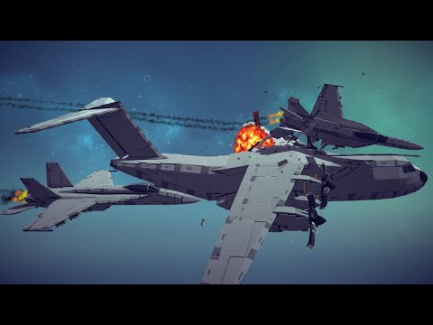 Spectacular Airplane Crashes, Shootdowns, Midair Collisions and More #12   Besiege