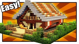 Minecraft How To Build A Cool Wooden House Minecraft House