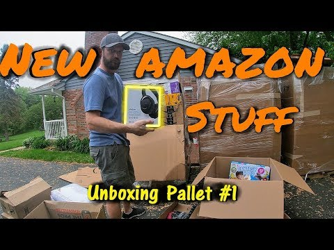 Unboxing a Pallet Of Tools & Outdoor Liquidation Amazon Return Boxes