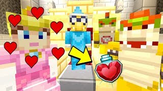 PEACH DRINKS A LOVE POTION! *IN LOVE WITH BOWSER!* | Super Mario Series | Minecraft [263]