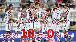 🇭🇷 Croatia 10 - 0 San Marino 🇸🇲 - 4 June 2016 - All Goals
