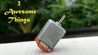 2 Awesome Life Hacks with DC Motor || School Projects