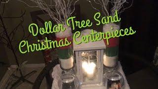 Dollar Tree Sand Christmas Centerpieces