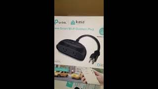 Outdoor wifi plug unboxing TP Link kasa smart plug